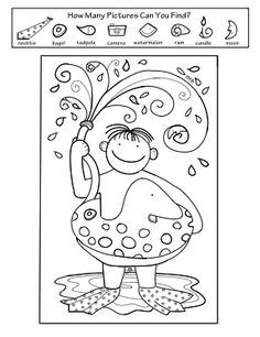 """Summer Activity Coloring Pages  This """"Hidden Pictures"""" activity is part of a four page set of printables perfectly suited for summer!"""