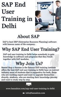 Bansal Step 2 Success is the best SAP End User Training Institute in Delhi. Our all trainers, they have depth knowledge and experience in this field. End User, Famous Names, Trainers, Knowledge, Success, Good Things, Tennis, Athletic Shoes, Sweat Pants