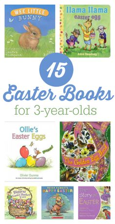 Easter books for preschool, these 15 Easter books are perfect for three year olds.