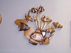 Wood Intarsia Tropical Fish