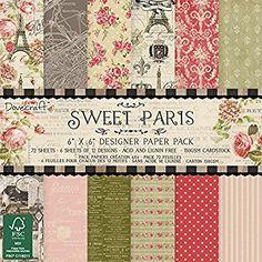 """Dovecraft Sweet Paris Collection - Paper Pack 6""""x6"""" (12 Designs, FSC)"""