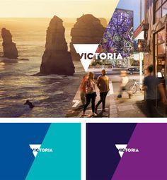 New Logo and Identity for Victoria by Designworks Australia Destination Branding, City Branding, Logo Branding, Brand Identity Design, Branding Design, Logo Design, Travel Logo, Travel And Tourism, Tourism Marketing