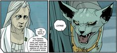 """kartonnendozen: """" glassgears: """" jermtube: """" evilpainapol: """" Lying cat """" that last panel got me right in the feels """" Best new character in ages """" This internet lacks lying cats. Saga, Deviantart, Comics, Character, Artists, Google Search, Cartoons, Comic, Lettering"""