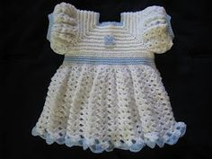 A Ruffled Crocheted Baby Dress