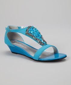 Loving this Blue Felicia Sandal on #zulily! #zulilyfinds