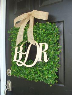 Wedding Decoration Monogram Wedding Decor Church by ElegantWreath, $130.00