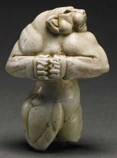 The Guennol, is described as an Elamite anthropomorphic lioness-woman. In 1931, a New York art dealer reported it was discovered at a site near Baghdad and sold it to a Mr. Martin. A trustee of the Brooklyn Museum, he  placed it on long term loan until 2007 when it sold at auction to a anonymous buyer for $57.2 million and has dropped out of sight. There really is nothing like it and I was surprised when a  museum did not buy it. ca. 3000 BCE, Mesopotamian