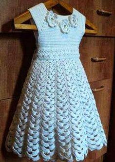 Tejidos realizados con amor para ti ...: Vestido de niña.