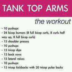 Tank Top Arms Workout!!