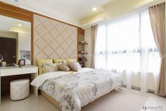 Simple modern style bedroom interior design pictures 2015