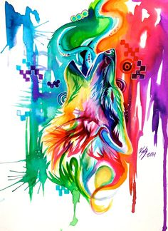 Rainbow Wolf Revamp -on Ebay- by Lucky978.deviantart.com on @deviantART