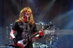 Dave Mustaine performs with his band Megadeth during the Gigantour 2008 at the Aragon Ballroom on May 6, 2008 in Chicago, Illinois, USA.