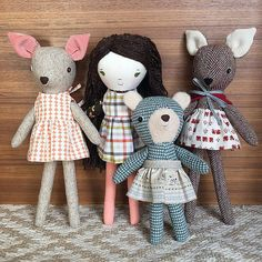 wee wonderfuls original handmade dolls and doll sewing patterns