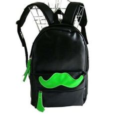 This Handlebar Moustache Bag Features a Prominent Neon Design #movember trendhunter.com
