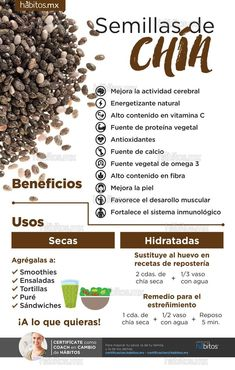 Benefits of Chia Seeds - Health Coaching Habits - Benefits of Chia Seeds – He. Benefits of Chia Se Healthy Drinks, Healthy Tips, Healthy Recipes, Health And Nutrition, Health And Wellness, Health Fitness, Chia Benefits, Food Facts, Natural Medicine