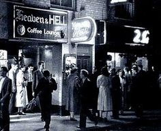 Heaven & Hell Coffee Lounge, Old Compton Street 1950's