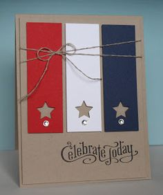 Just Julie B's Stampin' Space great 4th of July card