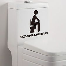 Lots 1 Set Toilet Bathroom Removable Wall Glass Door Stickers...