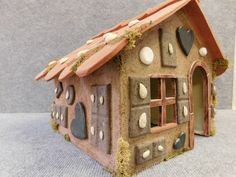 Lebkuchenhaus, großes Hexenhaus aus Keramik 6