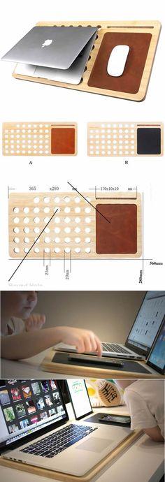 Wood MacBook Laptop Mobile Lap Desk