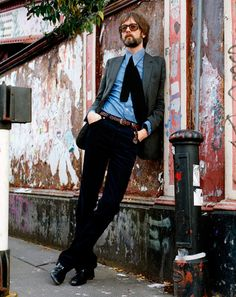I've only recently discovered Pulp, which is a shame since they are a great band, but just as great as their musical output is Jarvis Cocker's irregular but put together sense of fashion.
