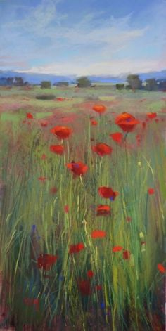 Inspiration from a Poem Poppies #2, painting by artist Karen Margulis