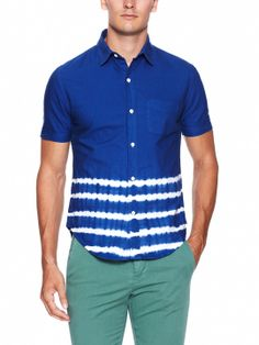 Placement Stripe Sport Shirt by Band of Outsiders at Gilt