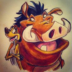 Day 11: favorite animal sidekick. Is it cheating if I have 2? Timon and Pumba from the Lion King!