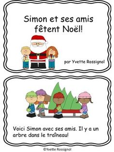 Petit livre gratuit (Noël, French ressource, French immersion) French Teaching Resources, Reading Resources, Teaching French Immersion, Core French, French Classroom, French Teacher, Theme Noel, French Lessons, Kindergarten Activities