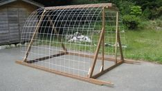cattle panel greenhouse frame.