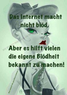 Das # Internet ist nicht #blöd..,