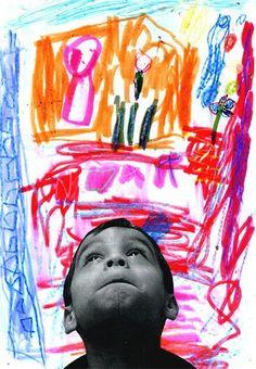 kindergarten or preschool self portraits art project