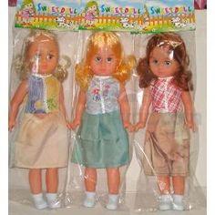 "18"" Plastic Girl Doll with Mama Voice (Hong Kong)"