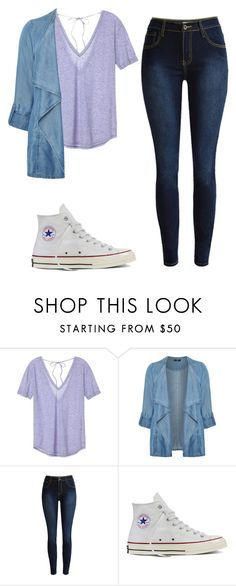 """""""simple"""" by vaniadenisse16 ❤ liked on Polyvore featuring Victoria's Secret, Evans, Converse and plus size clothing"""