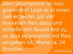 Nasses Smartphone trocknen