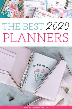 A comprehensive list of 16 of the best 2020 planners made FOR women entrepreneurs BY creative women business owners. Best Weekly Planner, Planner Tips, Best Planners, Goals Planner, Life Planner, Happy Planner, 2015 Planner, Work Planner, College Planner