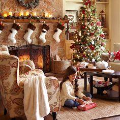 Winter Wonderland Collection  #Christmas #fireplace