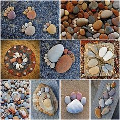 Fun Looking Footprints Made with Pebbles and Rocks - http://www.amazinginteriordesign.com/fun-looking-footprints-made-with-pebbles-and-rocks/