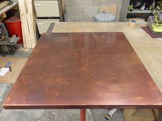 Marvelous 42   Variation Bronzed Copper Table Top