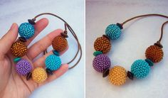 Drops of Petrol, Honey and LIla Necklace (see on Facebook AndyBori or contact me: andybori@seznam.cz)