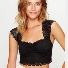 Spotted while shopping on Poshmark: Free People Intimately Scallop Edge Crop Top! #poshmark #fashion #shopping #style #Free People #Tops