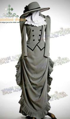 Vestido victoriano gris