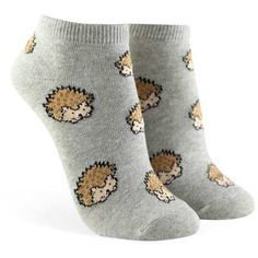 Forever21 Hedgehog Graphic Ankle Socks ($1.90) ❤ liked on Polyvore featuring intimates, hosiery, socks, cotton socks, graphic socks, forever 21 socks, forever 21 and short socks