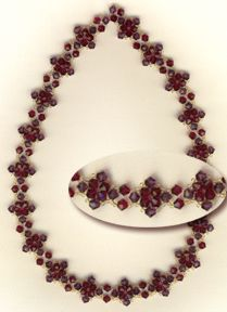 Easy Crystal Necklace Pattern at Sova-Enterprises.com lots of free beading patterns and tutorials are available!