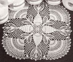 Thread Crochet Doily Patterns | Details about Vintage Crochet Doily Thread PATTERN Pineapple Popcorn