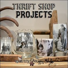 ThriftShopProjects 1 SQ #DIY #photodisplay
