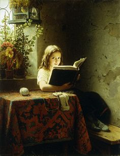 Meyer Johan Georg - A Girl Reading