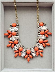 Luxury Orange Necklace J Crew Inspired by Payless4fab on Etsy