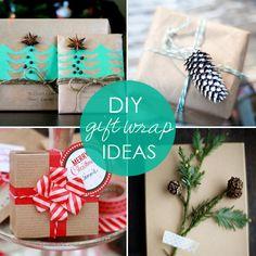 16 totally cool + crafty DIY gift wrap ideas.