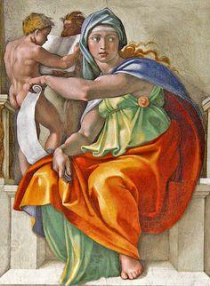 Cappella Sistina, Delphic Sibyl #TuscanyAgriturismoGiratola